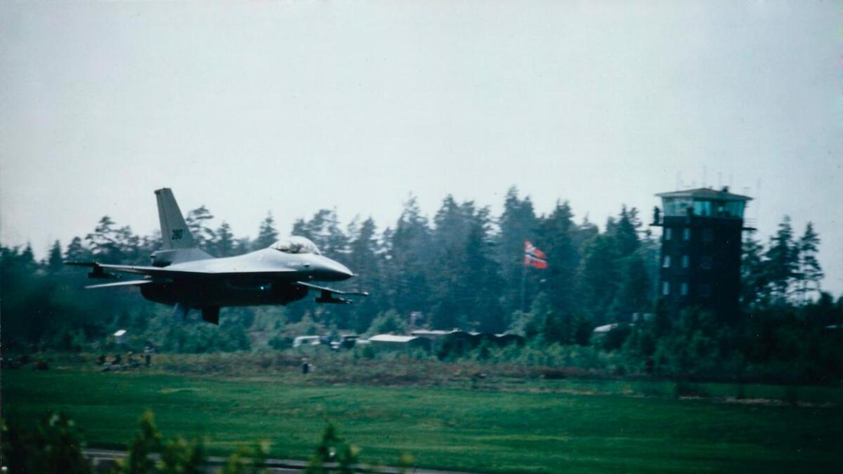 F-16 med serienummeret 78-0280 flaug oppvisning under eit flystemne på Torp flyplass dagen før havaret ved Tunhovdfjorden.