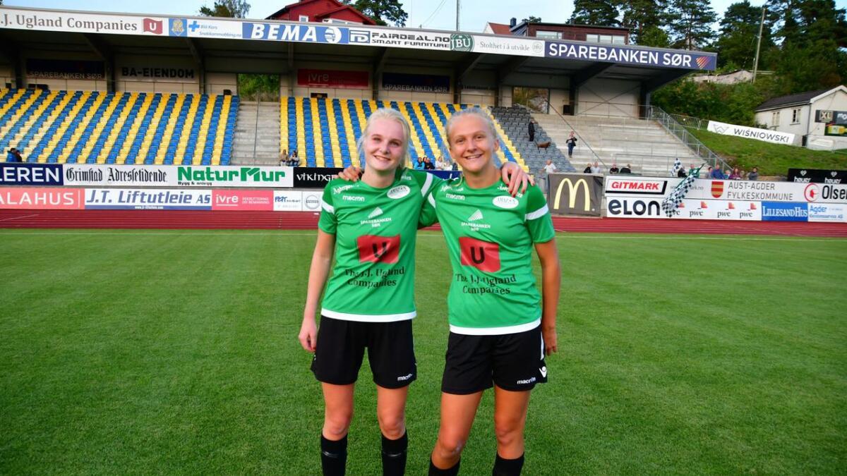 Frida Abrahamsen og Tuva Væting (til høyre) scoret da Amazon snudde 0-1 til 2-1. Væting ble matchvinner i 2. ekstraomgang som ble ekstra dramatisk.