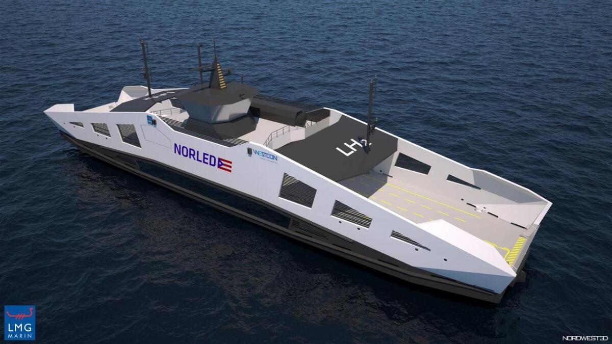I skipsfarten sin overgang til fornybar energi vert hydrogen sett som eit av dei mest realistiske alternative for større skip og lengre avstandar. Noregs første hydrogenferje vert sett i drift av Norled på riksvegsambandet Hjelmeland-Nesvik-Skipavik i Ryfylke i 2021.