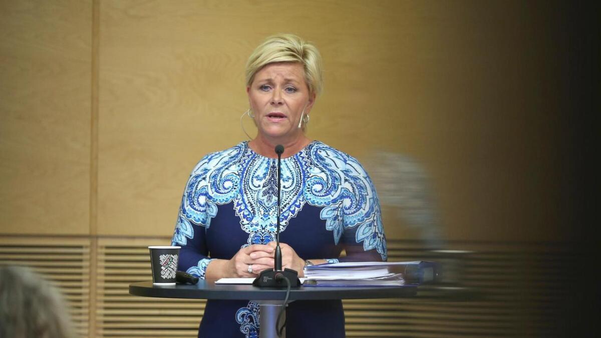 Finansminister Siv Jensen (Frp) mener endringene i eiendomsskatteloven vil gi mer fleksibilitet.
