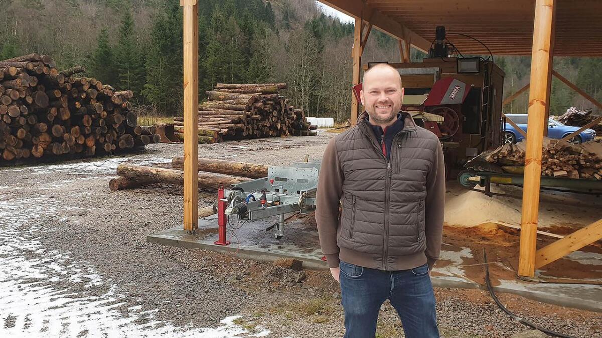 Jan Petter Gysland i Vintereik AS på Jåddan industriområde på Snartemo der det kan kome turkeanlegg for eik. Verksemda har fått tilsagn på både tilskot og lån frå Innovasjon Norge på Agder, men det er ikkje teke noko endeleg investeringsbeslutning enno.