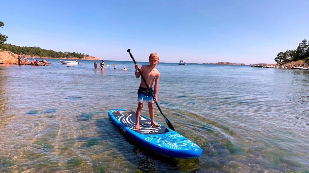 Sebastian Myrdal som nettopp fylte sju år, har storkost seg på dette brettet siste uken.
