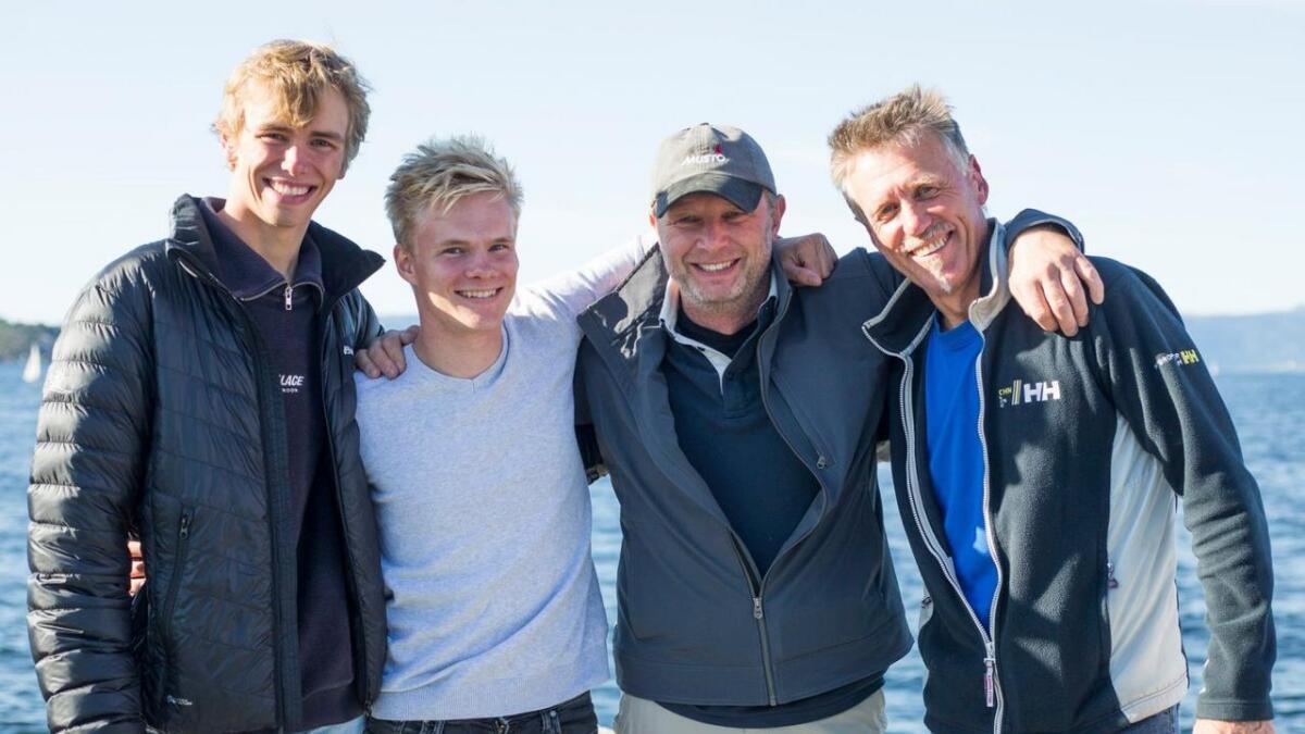 Mannskapet på LSF-båten i Trondheim sist helg, f.v. Aleksander Gauslaa, Thomas Frigstad, Ove Bessesen og Thor Bylund.