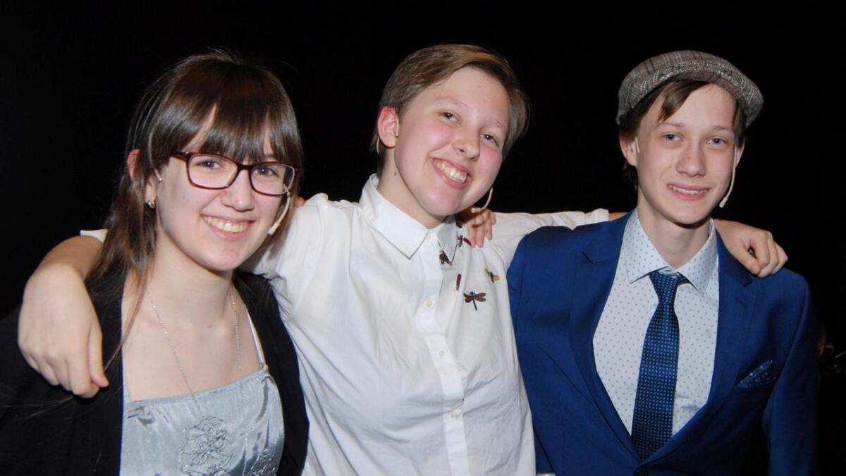 Pernille Dishington, Svea Petrine Sannes og Lukas Mathisen er veldig fornøyd med Sortland kulturskole.