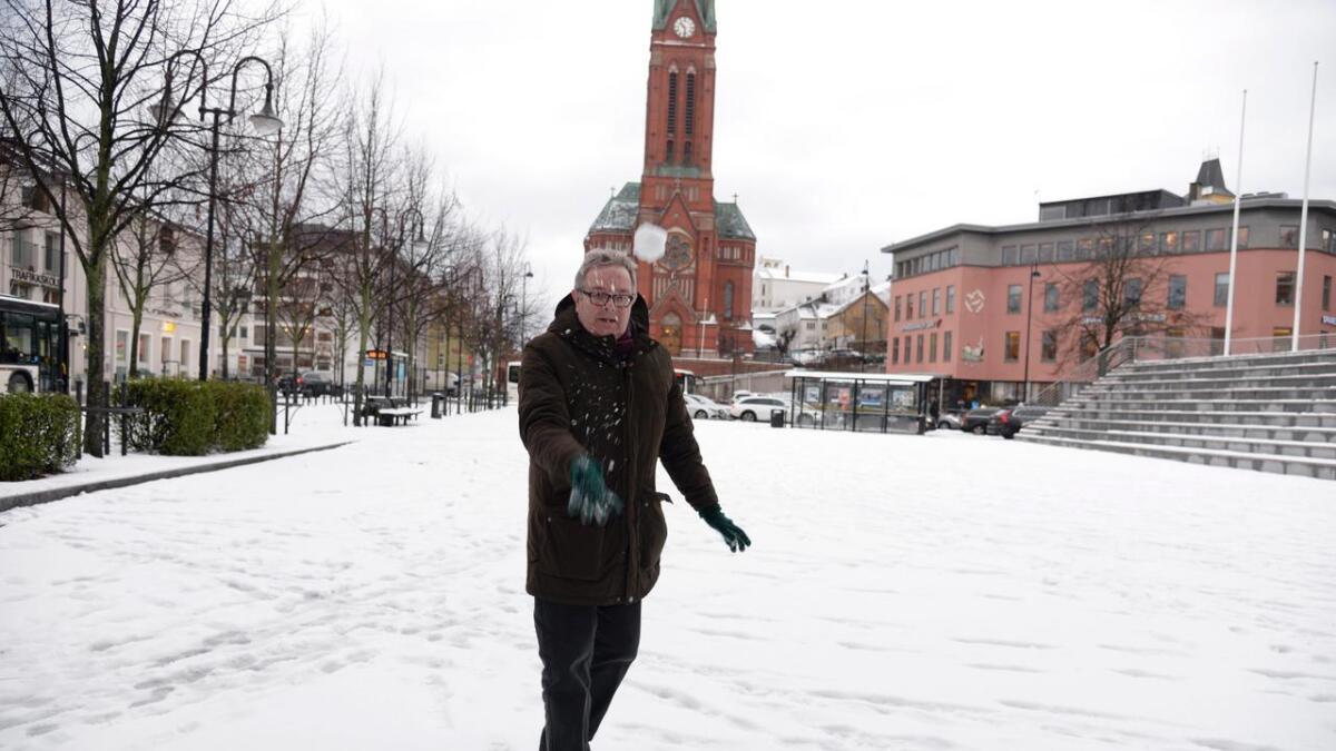 Styreleder i Arendal vinterfestival, Hans Birger Nilsen lurer på om vinterfestivalen burde hete januarfestivalen istedet.