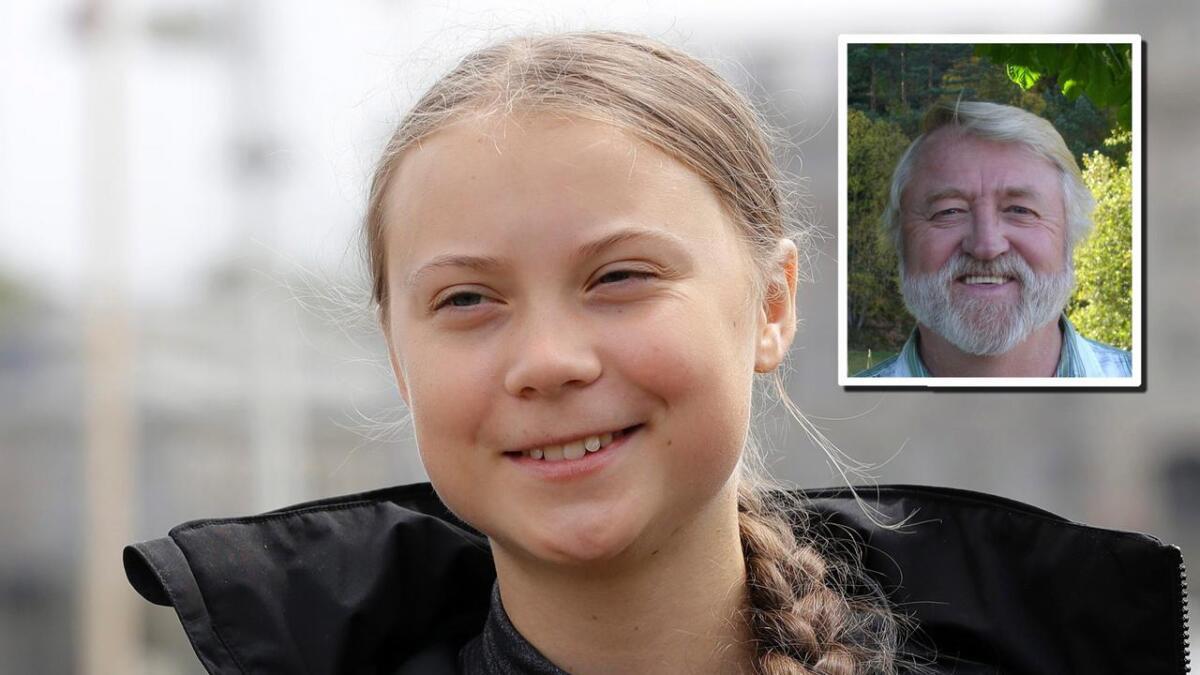 Svein Tveitdal mener Agderposten på lederplass mistenkeliggjør miljøaktivit Greta  Thunbergs posisjon «og spekulerer i at det står voksne bak hennes argumentasjon».