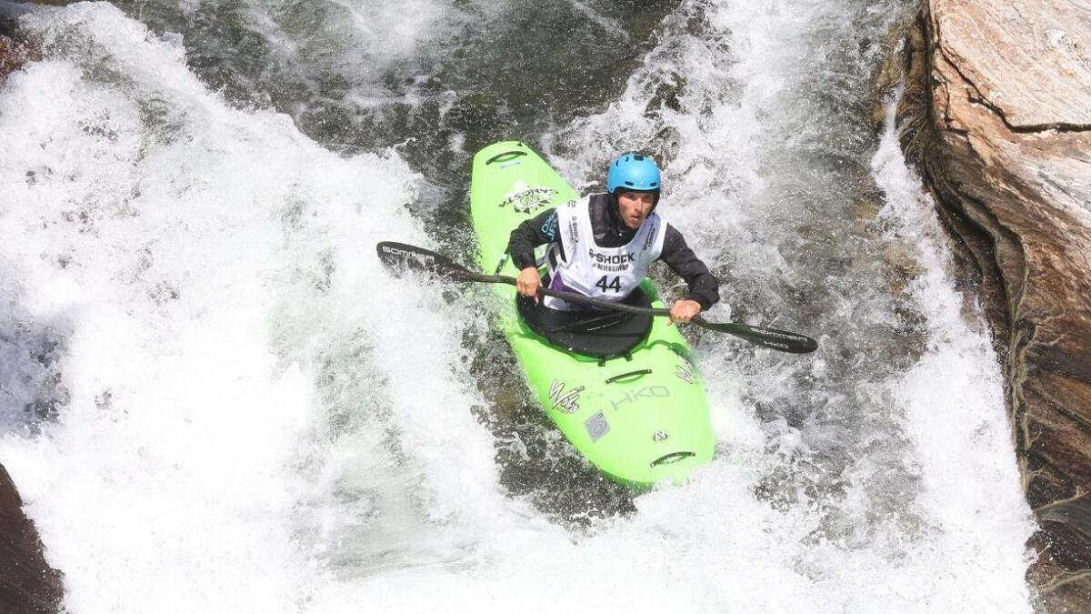 Jamie Sutton i aksjon under EM i elvepadling under Veko i år. Neste år vert det VM under Veko.