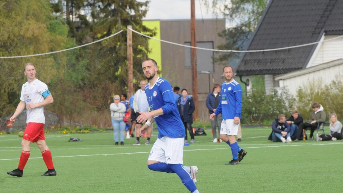 Marius Preber scorte R&Ås mål i 1-1 kampen mot Aurskog-Høland.