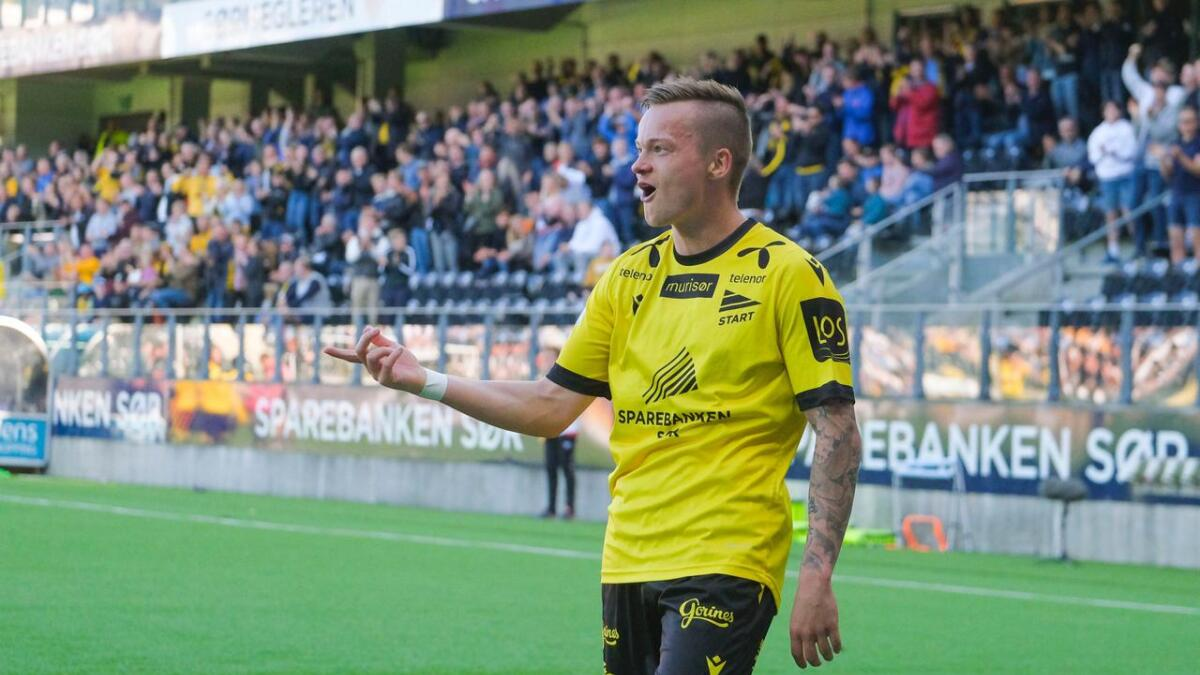 Starts Aron Sigurdarson scoret to ganger for Start mot Kongsvinger.