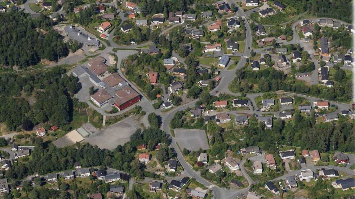 Moltemyr skole rett øst for Arendal bysentrum har mye eldre viillabebyggelse rundt, med                     store hager. Her kan være en god plass å starte et prosjekt med forenkling av plankrav for å legge til rette for å erstatte noen av de gamle husene med tettere, ny                     bebyggelse, mener Tvermyr. Som understreker at meningen ikke er å gå løs på skogflekkene rundt skolene - som alle er enige må bestå som grønne lunger.  Skrå