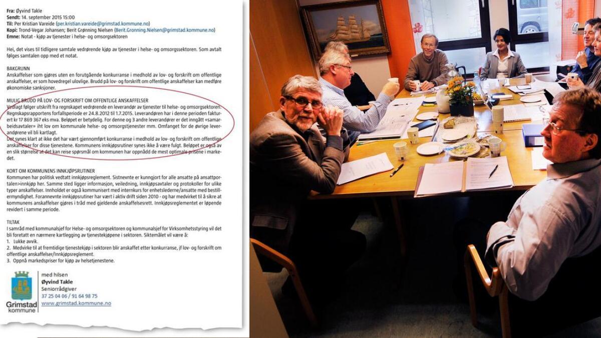 Her er varslernotatet som ble fremlagt toppledelsen i Grimstad kommune, men som aldri ble lagt frem for kontrollutvalget.