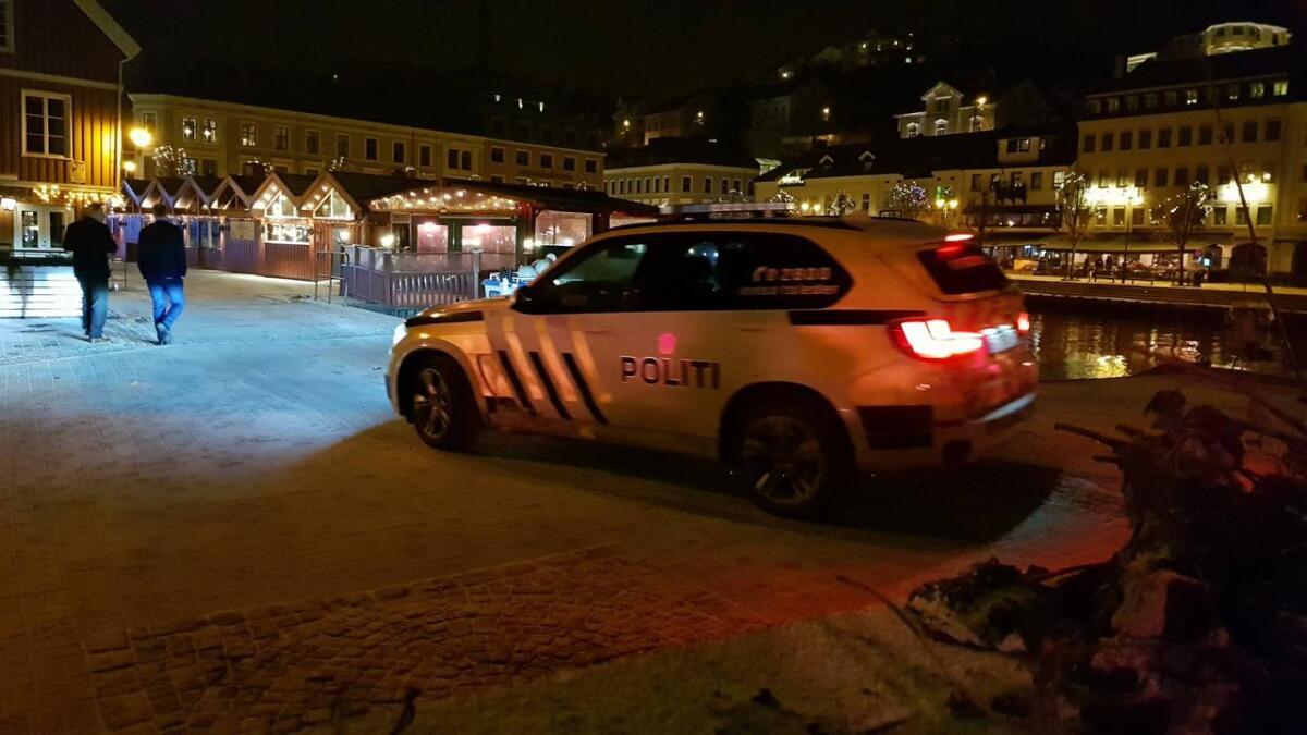 Politiet hadde det relativt rolig natt til søndag. Bildet er fra en annen anledning.