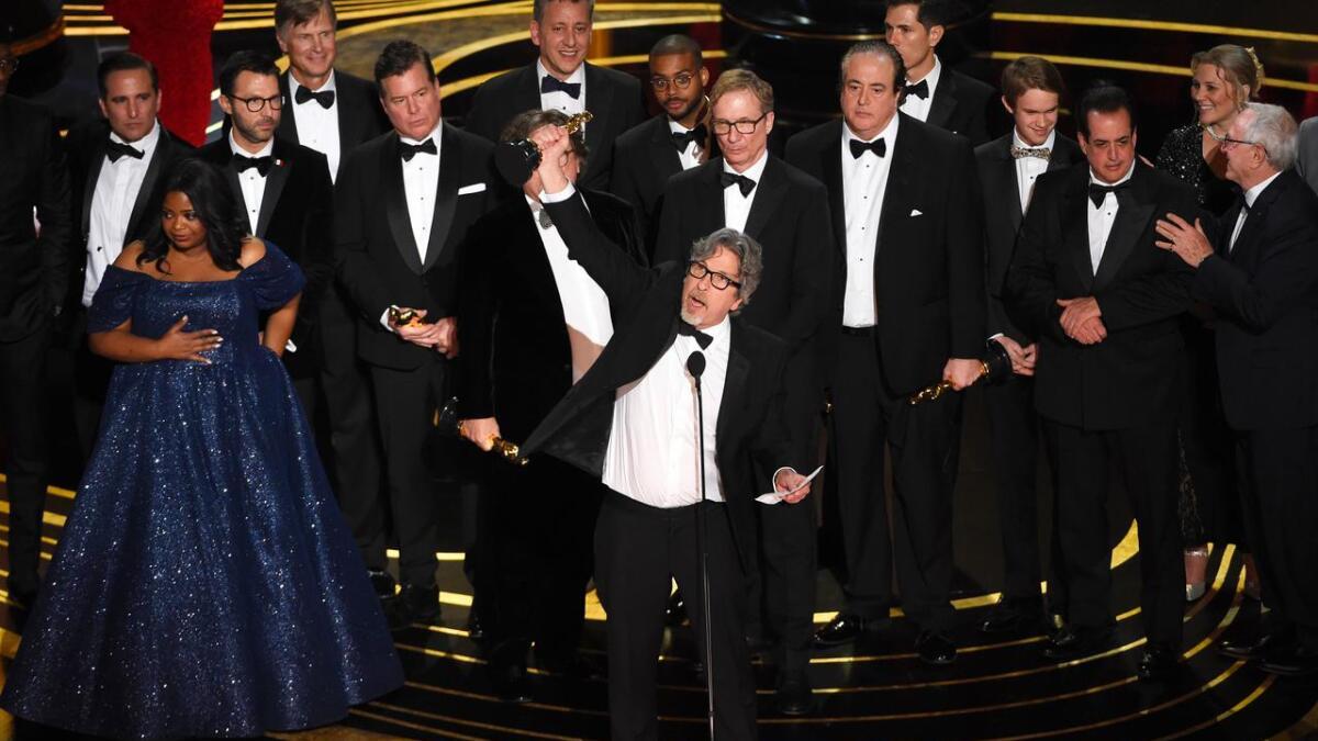 Peter Farrelly mottar sin Oscar.