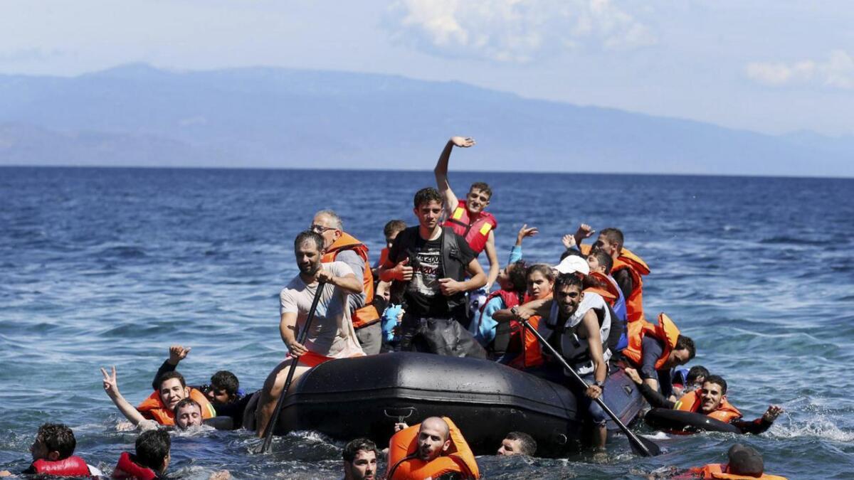 Det kjem stadig nye båtar med flyktningar til kysten av Hellas.