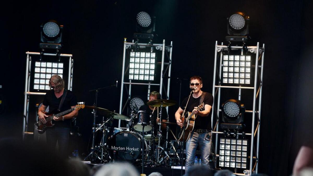 De rundt 1500 publikummerne som hadde tatt veien til Langesund i kveld fikk en god start på konsertkvelden med Morten Harket.