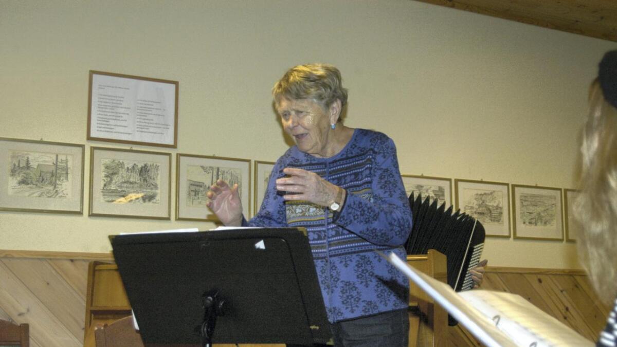 Liv Lofthus er framleis ein engasjert dirigent.