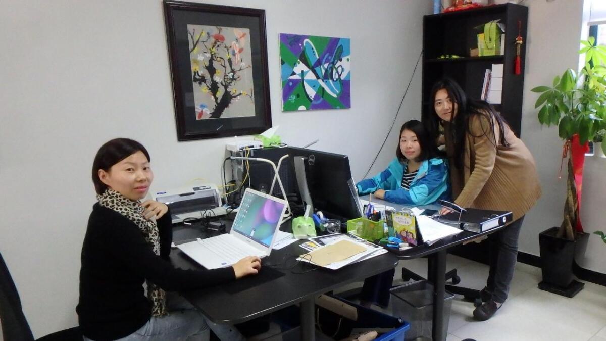 De ansatte ved kontoret i Shanhai
