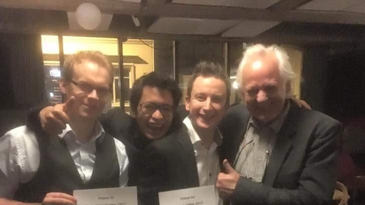 Christian S. Brattekås (klipper), Tarald Aaby B. (foto), Stephan A. Hergel (regissør) og Odd Hynnekleiv (lysmester).