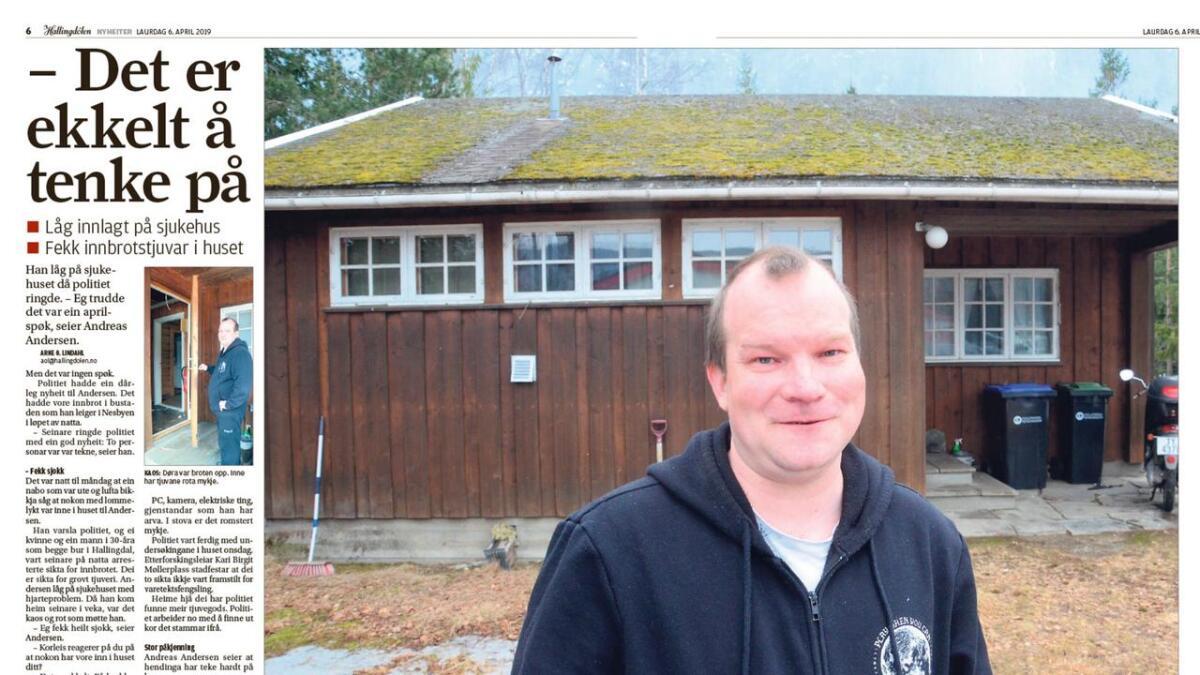 Då naboen oppdaga at det var tjuvar inne i huset i Nes ringde han politiet. Der fekk han beskjed om å følgje etter innbrotstjuvane i bil. Næraste politipatrulje var nemleg på Hønefoss.