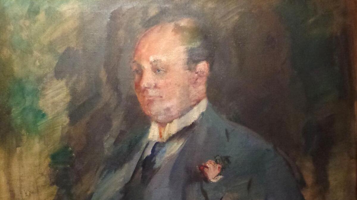 Maleri av skipsreder Christoffer Hannevig.