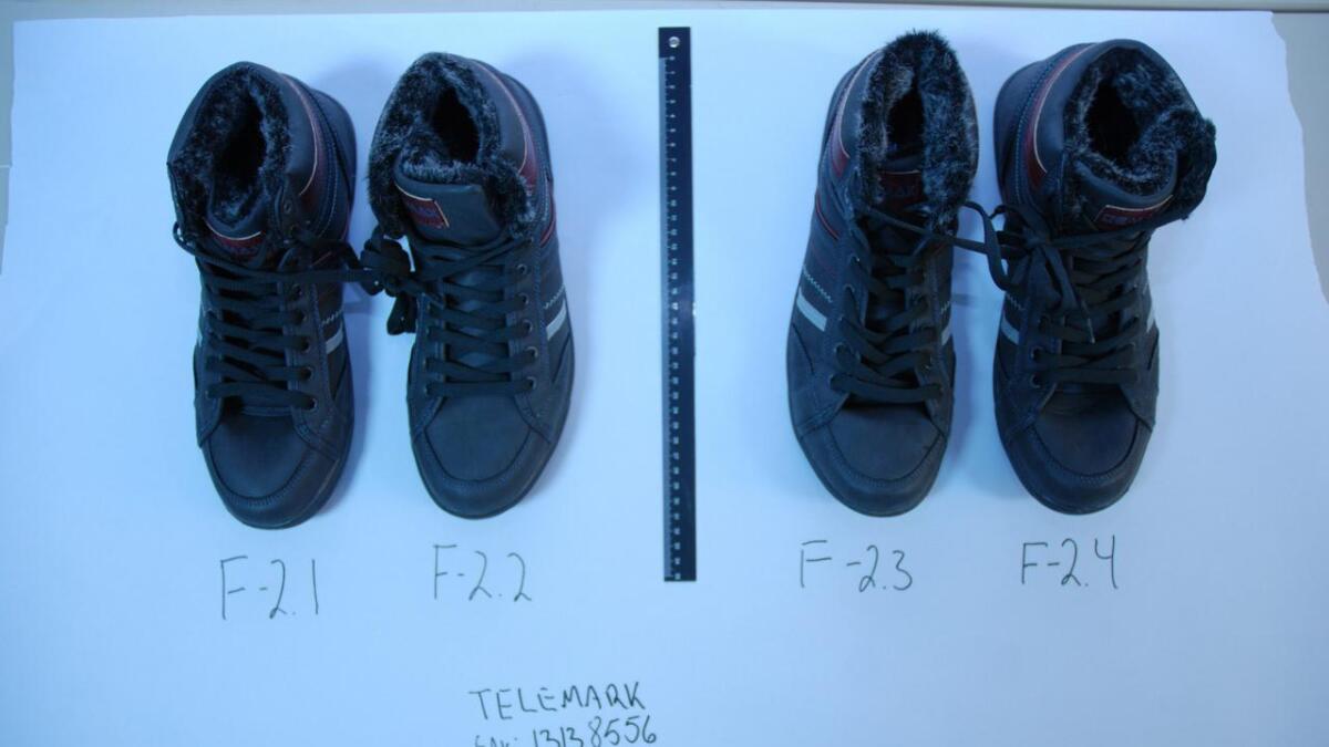 Skoene de brukte under innbruddene var helt like, og ble kastet etter at de hadde avsatt spor i snøen.