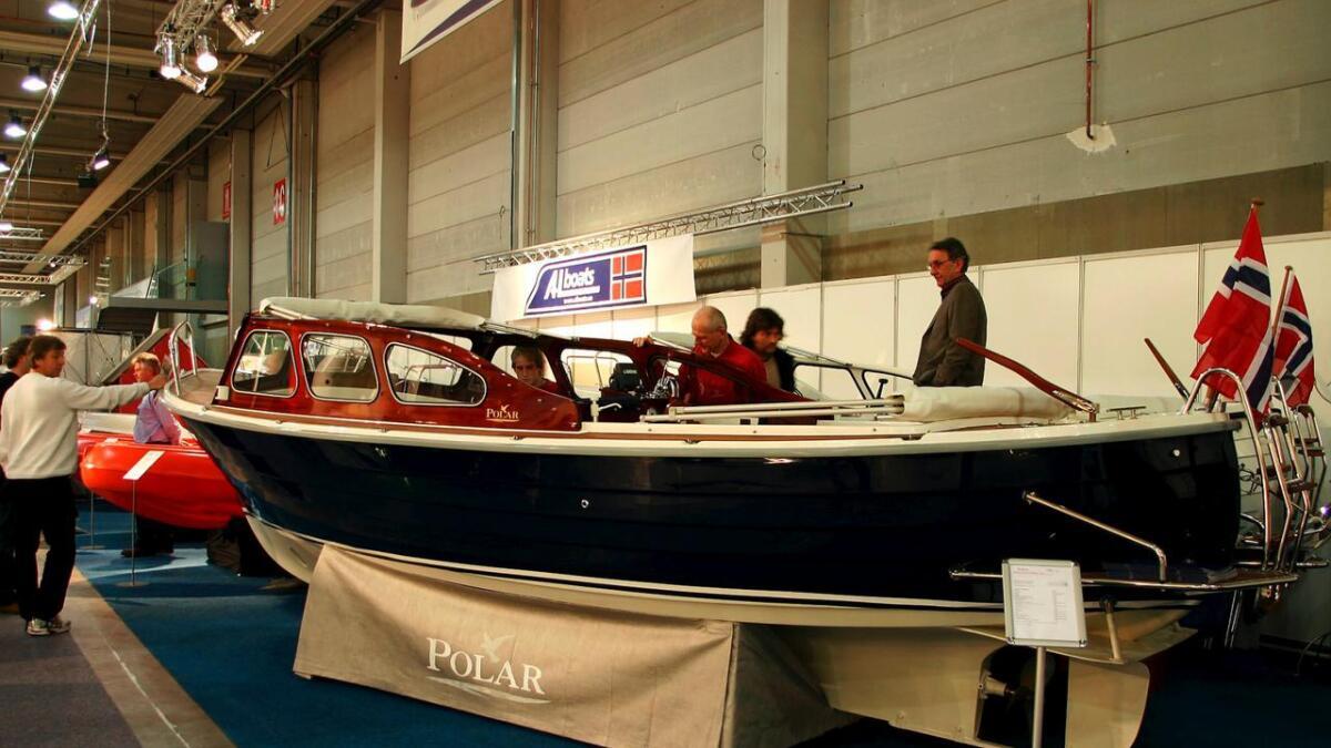 Polarboat er konkurs med over 16 millioner i gjeld. Her fra båtmessen Sjøen for alle på Lillestrøm.