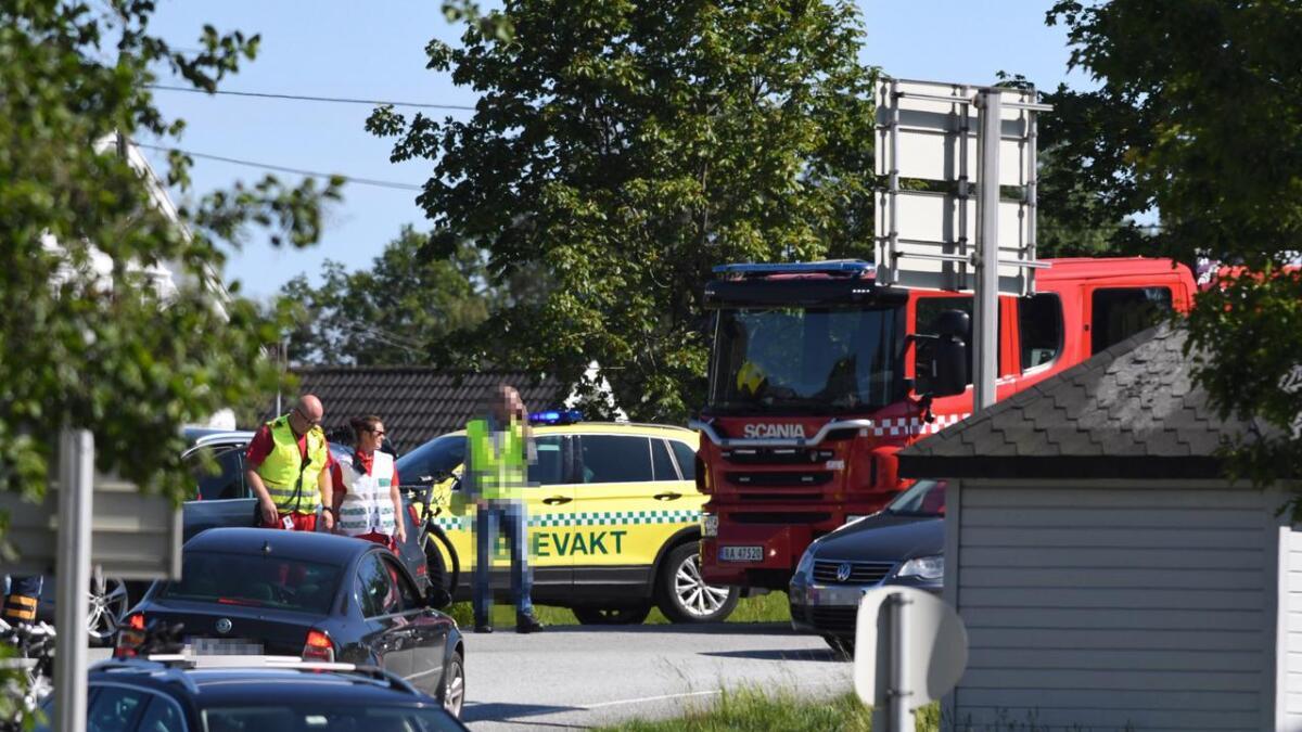 Ulykke like ved påkjøringen ved E18 på Bie i Grimstad