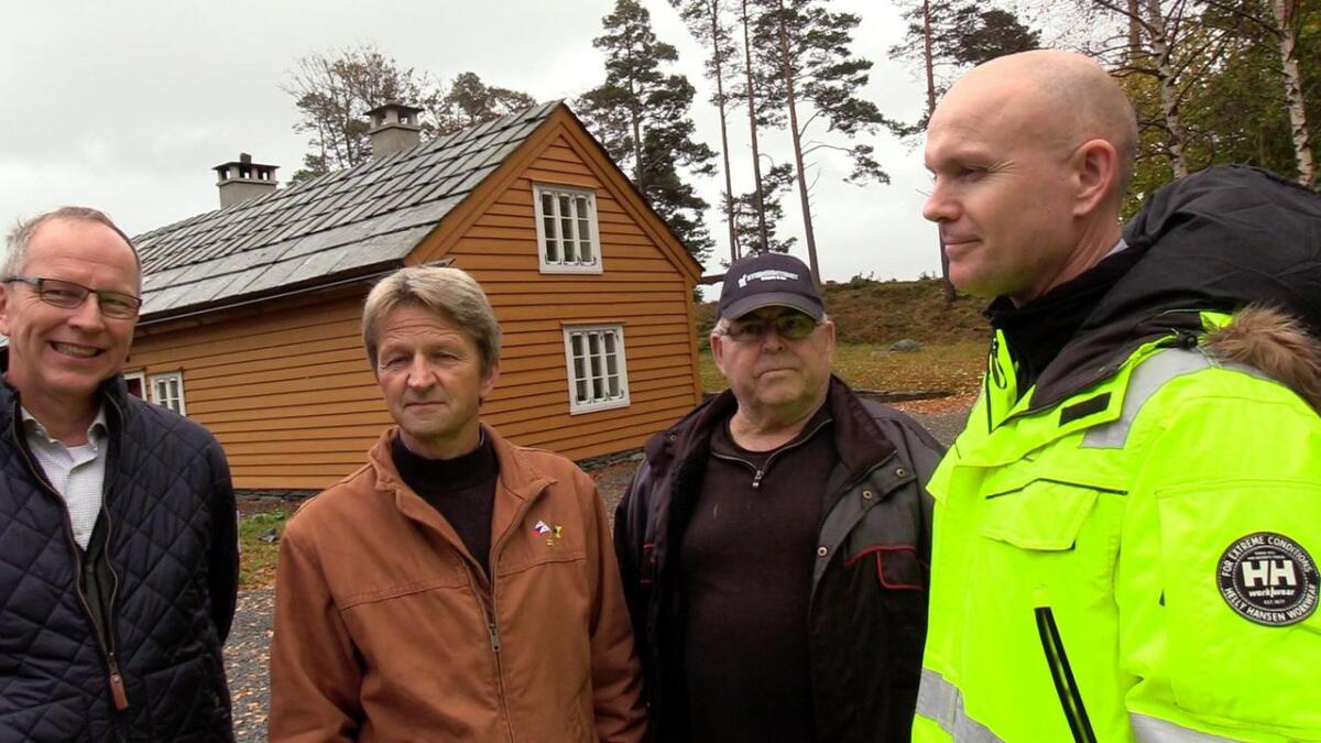 Magne Brekke, Johan Hvide, Jon Henrik Røttingen og Jan Søfteland er stolte over det som er blitt gjort på Lyngheim denne sommaren.