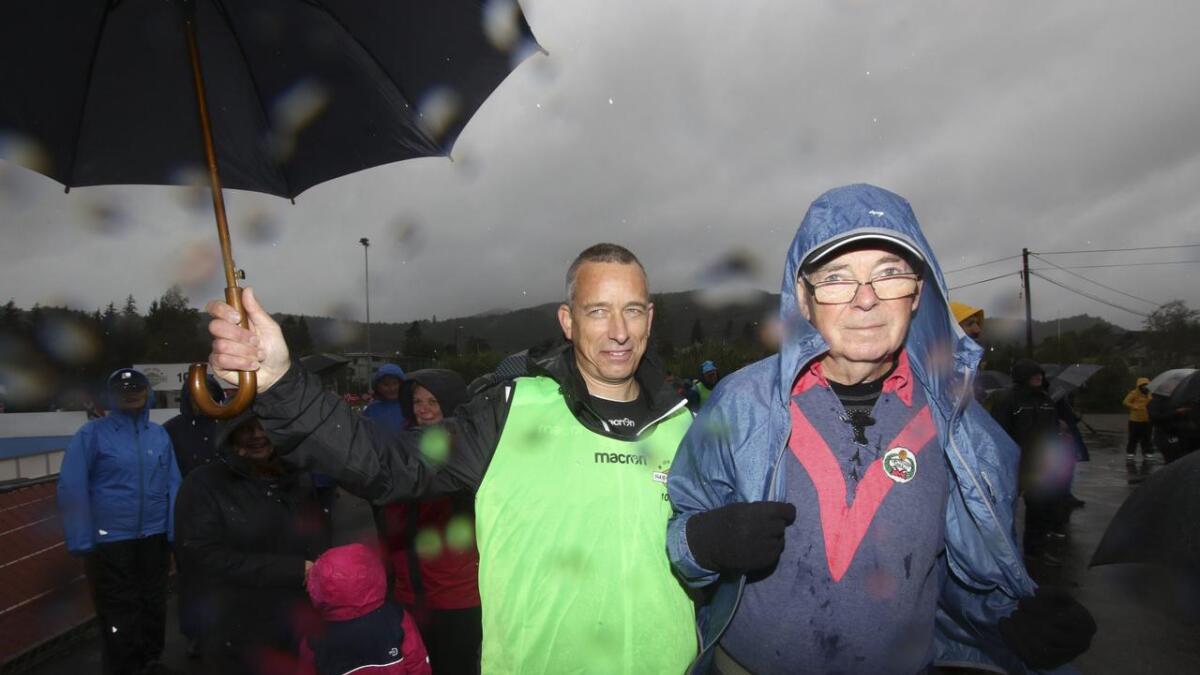 Leiar i STIL, Øyvind Skorpen, i lag med Søfteland-veteran Harald Søfteland.
