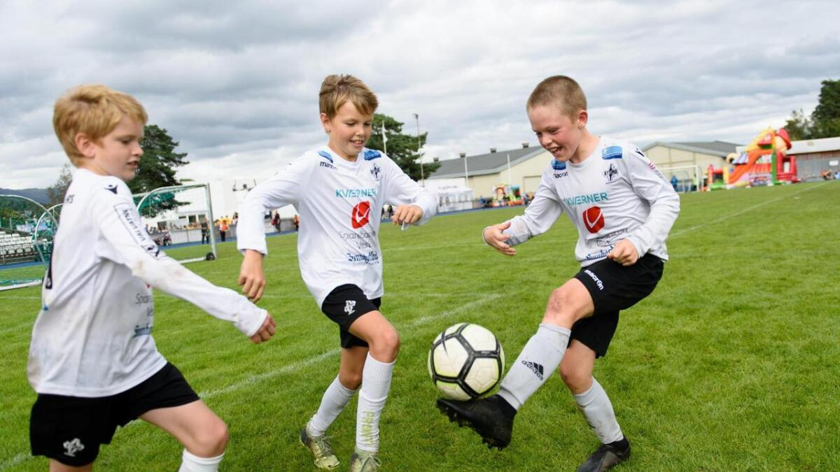 Leif Jakob Thormodsæter (10), Lucas Skaar (11), og Timian Bjergby Lønning (11).