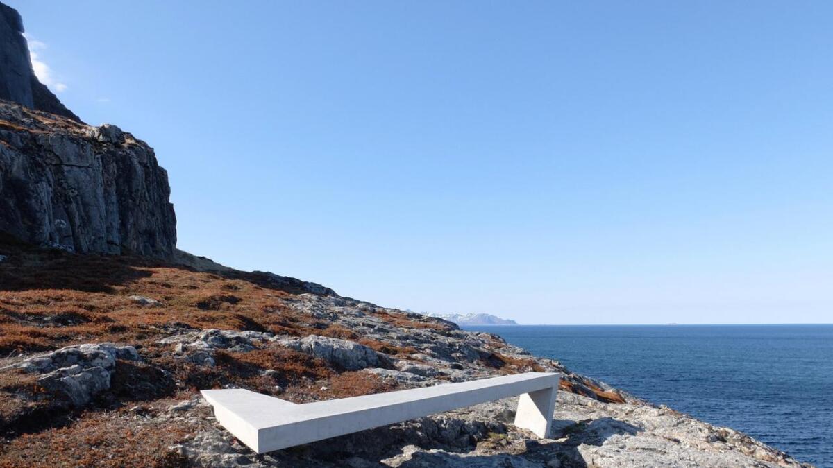 Rasteplassen ved Bukkekjerka ved Nordmela ved Nasjonal turistveg Andøya på vestkysten av Andøya. (Bildet er levert av Morfeus AS arkitekter v. Caroline Støvring.)