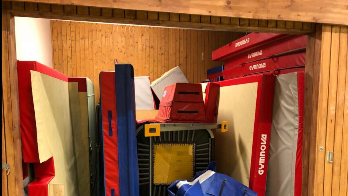 Det er mye utstyr å rigge opp og ned for hver trening.