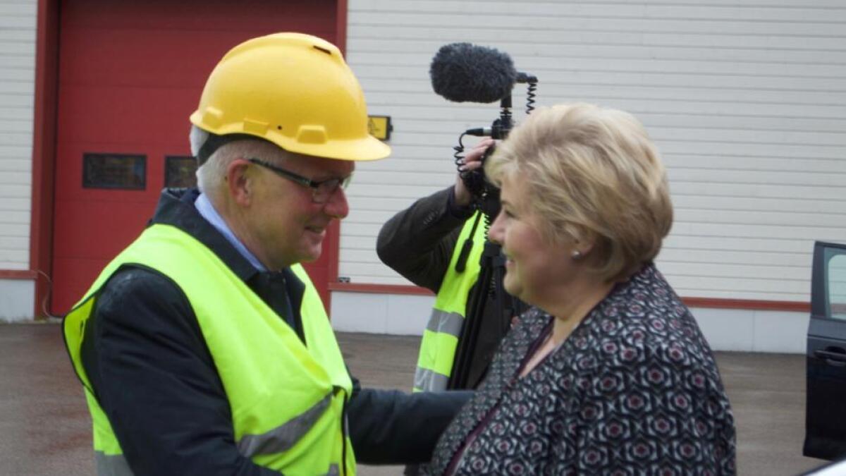 Statsminister Erna Solberg (H) besøkte Andøy 30. april i år. Hun har fortsatt ikke levert hva gjelder ekstraordinær statlig innsats overfor omstillingskommunen lengst nord i Nordland.