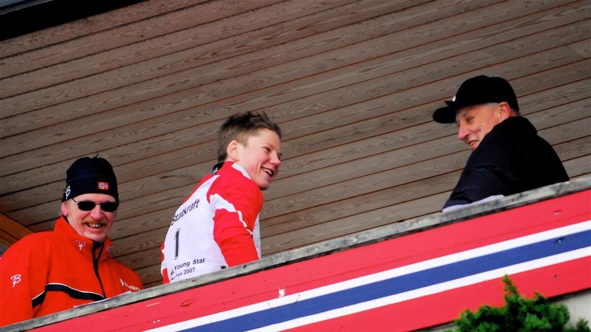 Vetle Sjåstad Christiansen vann talentrennet Young Star som 16-åring og møtte Kong Harald og president Tore Bøygard i Holmenkollen.