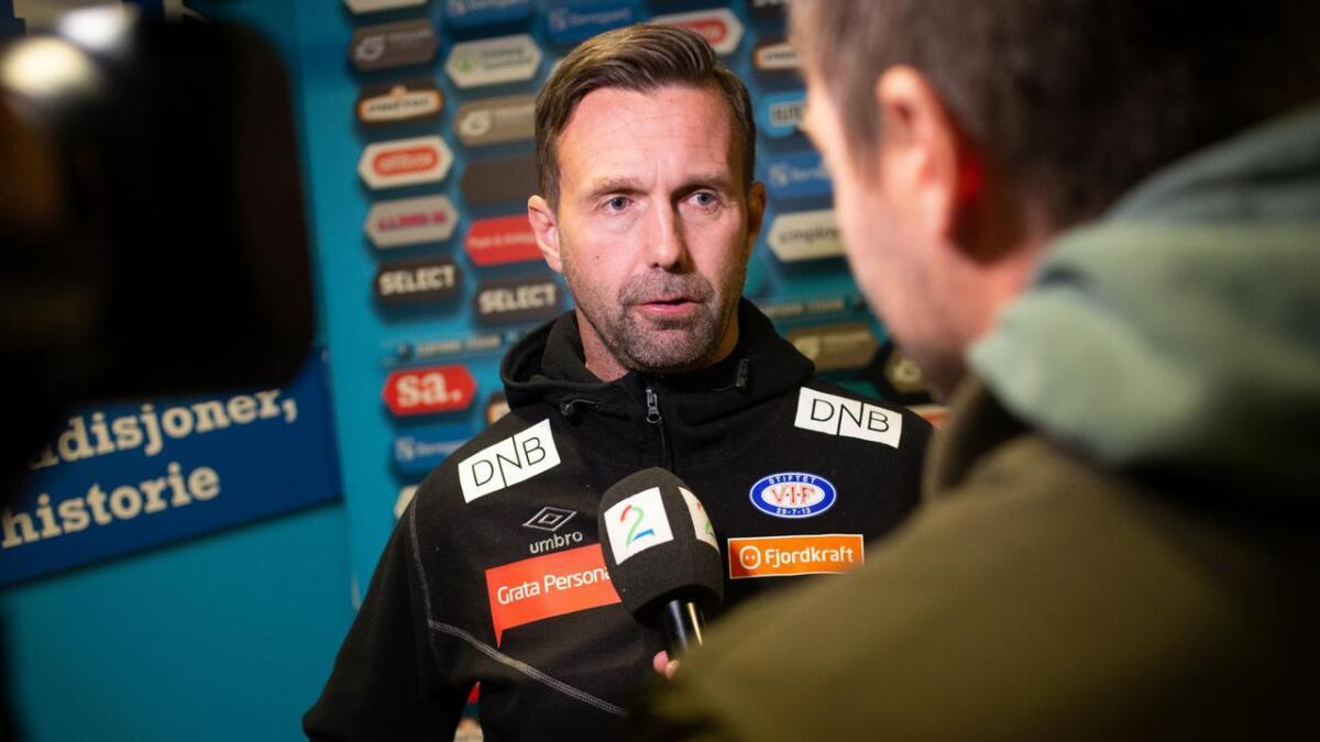 Vålerengas trener Ronny Deila mixed-zone etter Eliteseriekampen i fotball mellom Sarpsborg 08 og Vålerenga på Sarpsborg stadion.