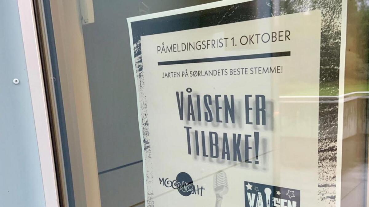- Det er særlig uheldig å skape skillelinjer i kulturlivet som kultursjefen her gjør, mener Inger Turid Tonstad. Her er plakaten Våeisen markedsfører seg med.
