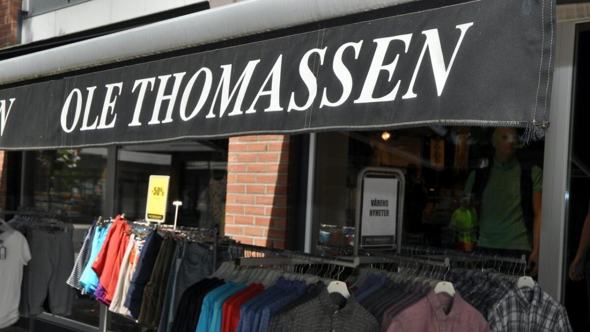 Regnskapene viser at klesforretningen Ole Thomassen økte omsetningen med to millioner kroner i fjor.arkivfoto