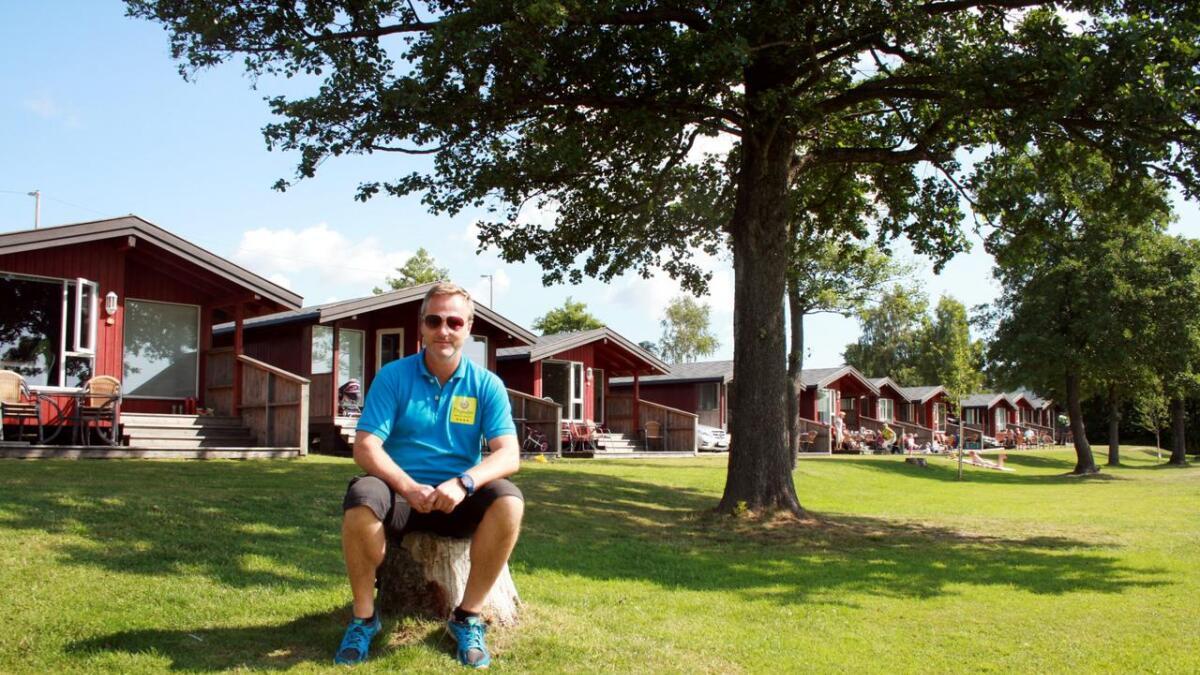 Tingsaker familiecamping, her ved daglig leder Espen Sjølund, hedres for sin miljøsatsing. Arkivfoto