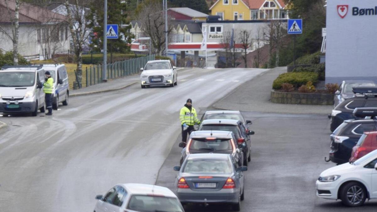 Torsdag føremiddag var det trafikkontroll på Svortland