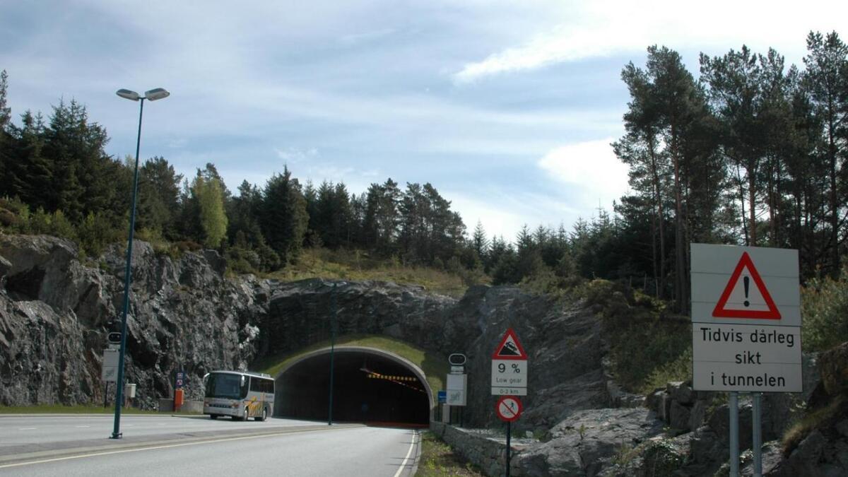 Bømlafjordtunnelen er ein av tunnelane som skal oppgraderast. Arbeidet er godt i gang og blir ferdigstilt i år. ARKIV