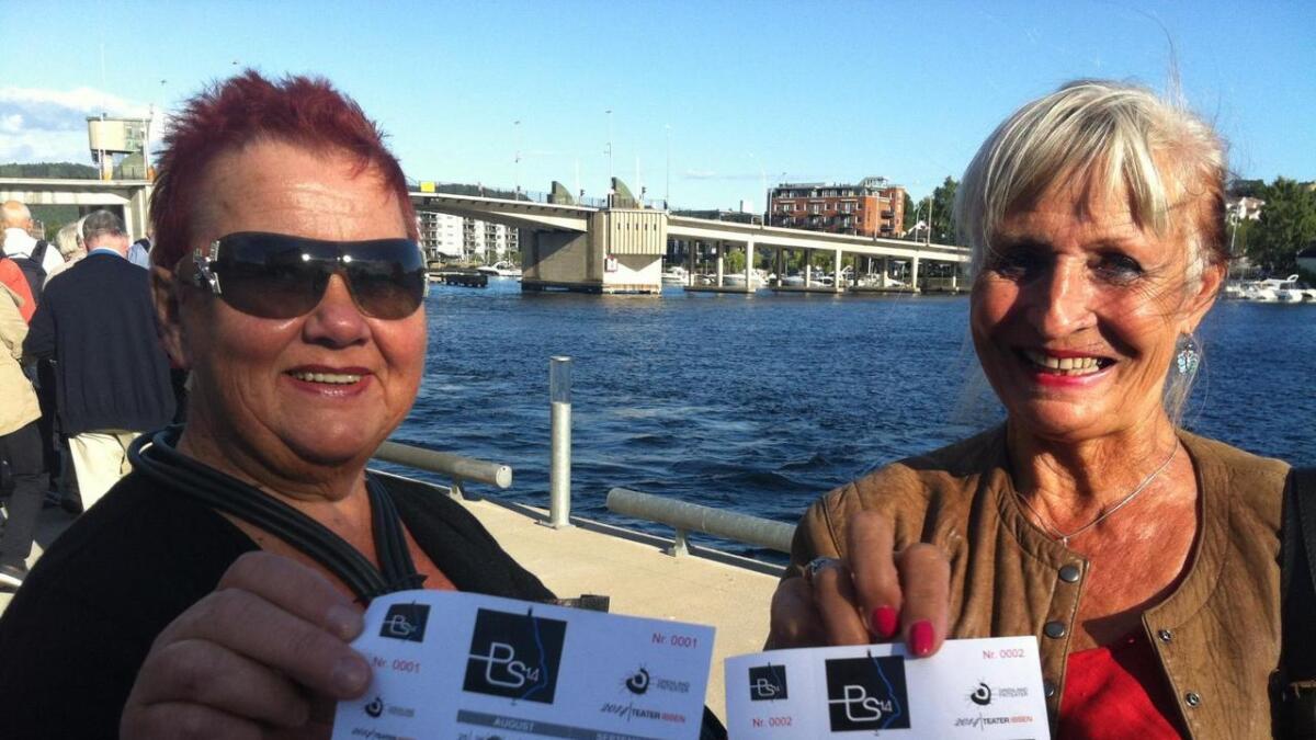Kristine Borgestad og Torhild Wahlstrøm har billett nummer 1 og 2 på PS14.