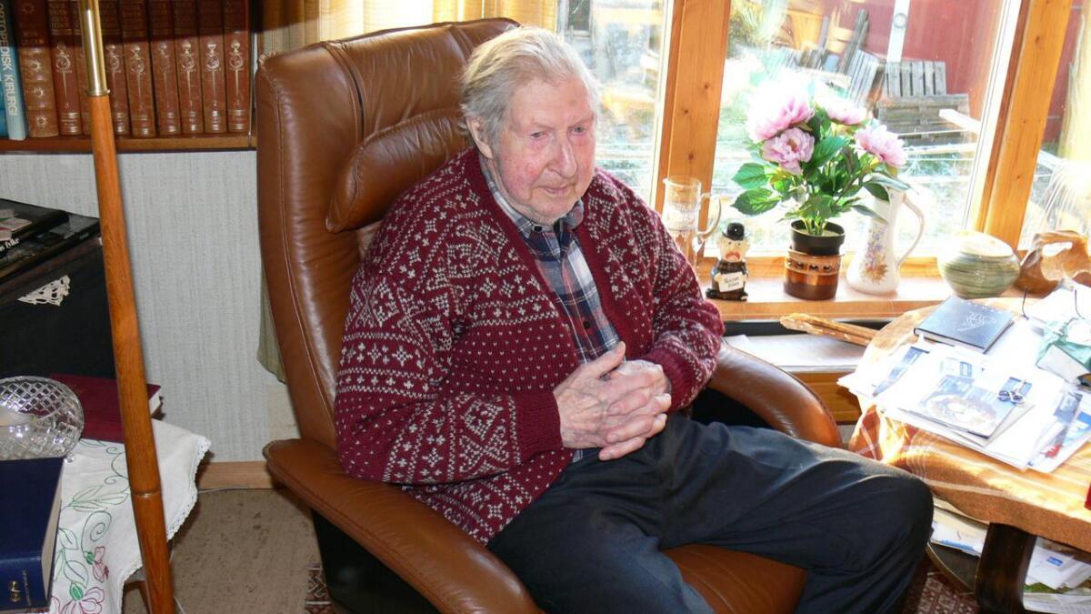 Nils Gregussen på Vikeland i Kvæfjord fyller 100 år førstkommende tirsdag.