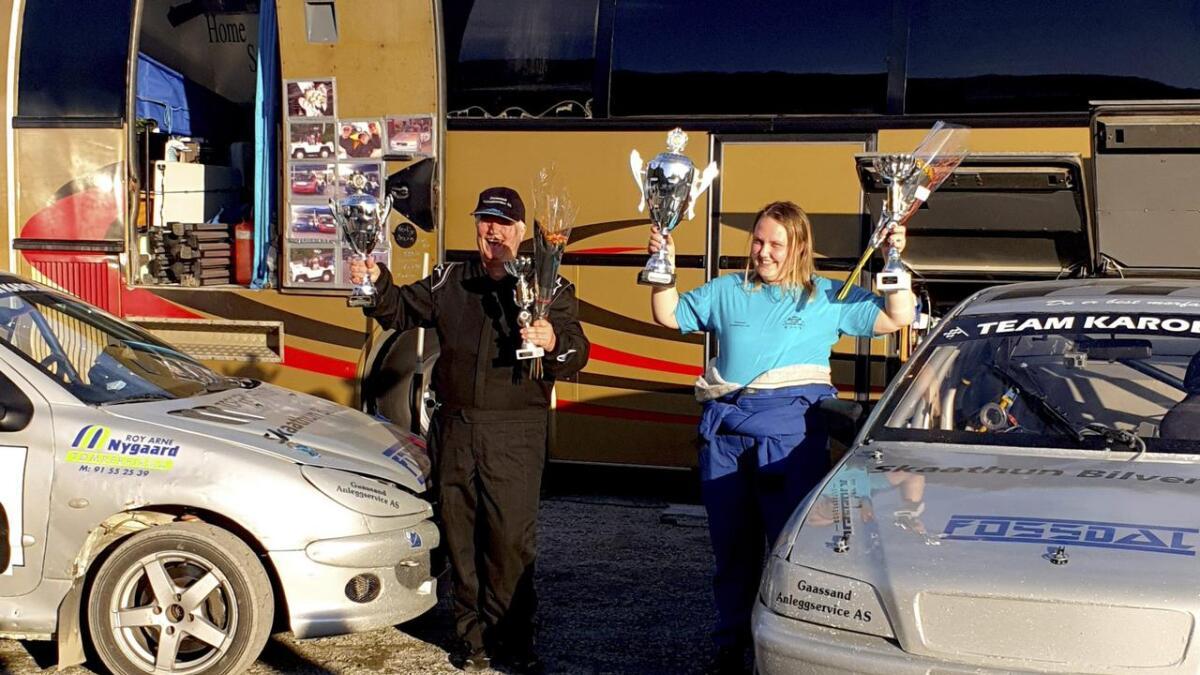 Randi og Karoline kan jubla for medalje, begge to.