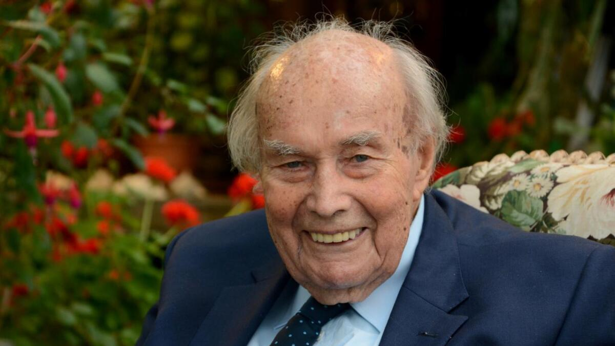 Andreas K. L. Ugland er død, 93 år gammel. Dette bildet, tatt i 2018, er et av de siste som ble tatt av rederinestoren.
