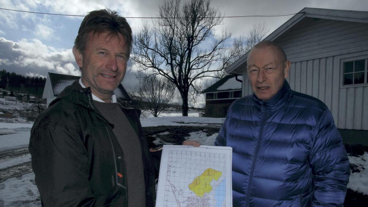 Snart er Magnar Larsen og Bjørn Holand er snart i mål med planen for Bervikåsen.