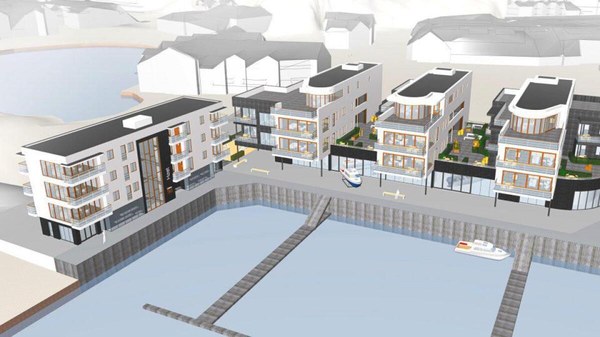 Slik ønsker Grimstad Bådsenter å forvandle tomten ytterst på Odden.