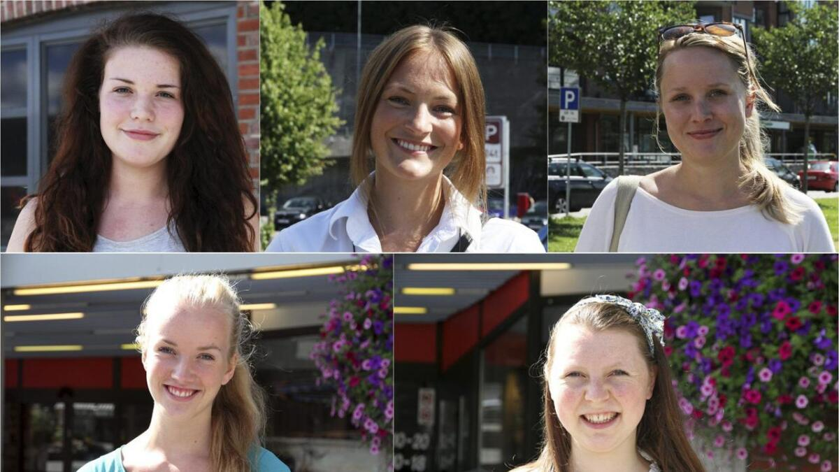 Karine Risdalen (18), Vibeke Herikstad (25), Jenni Stranheim (24), Helena Kittilsen (20) og Elisabeth Christiansen (20) skal stemme ved valget. Men annenhver velger under 30 holder seg hjemme.