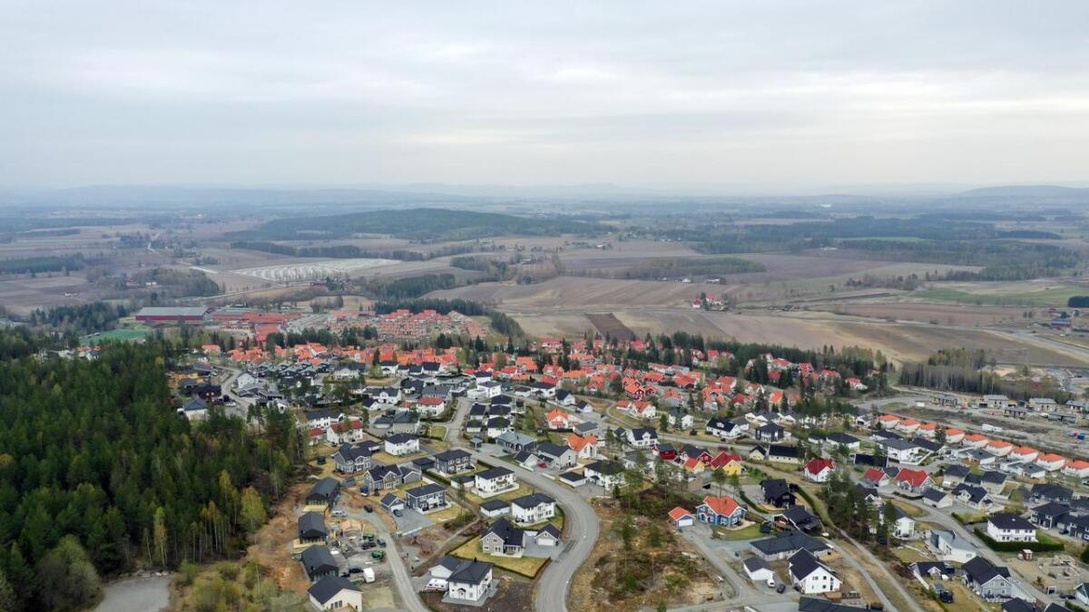 Neskollen er vokst fra å være et skogsholt til et stort boligområde.