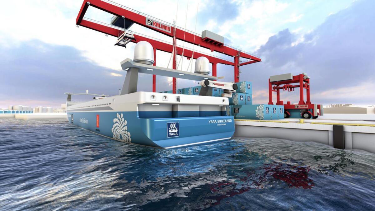 Yara Birkeland blir verdens første autonome, elektriske konteinerskip. Det leveres med fortøynings- og forankringssystemer fra Arendals-baserte MacGregor.