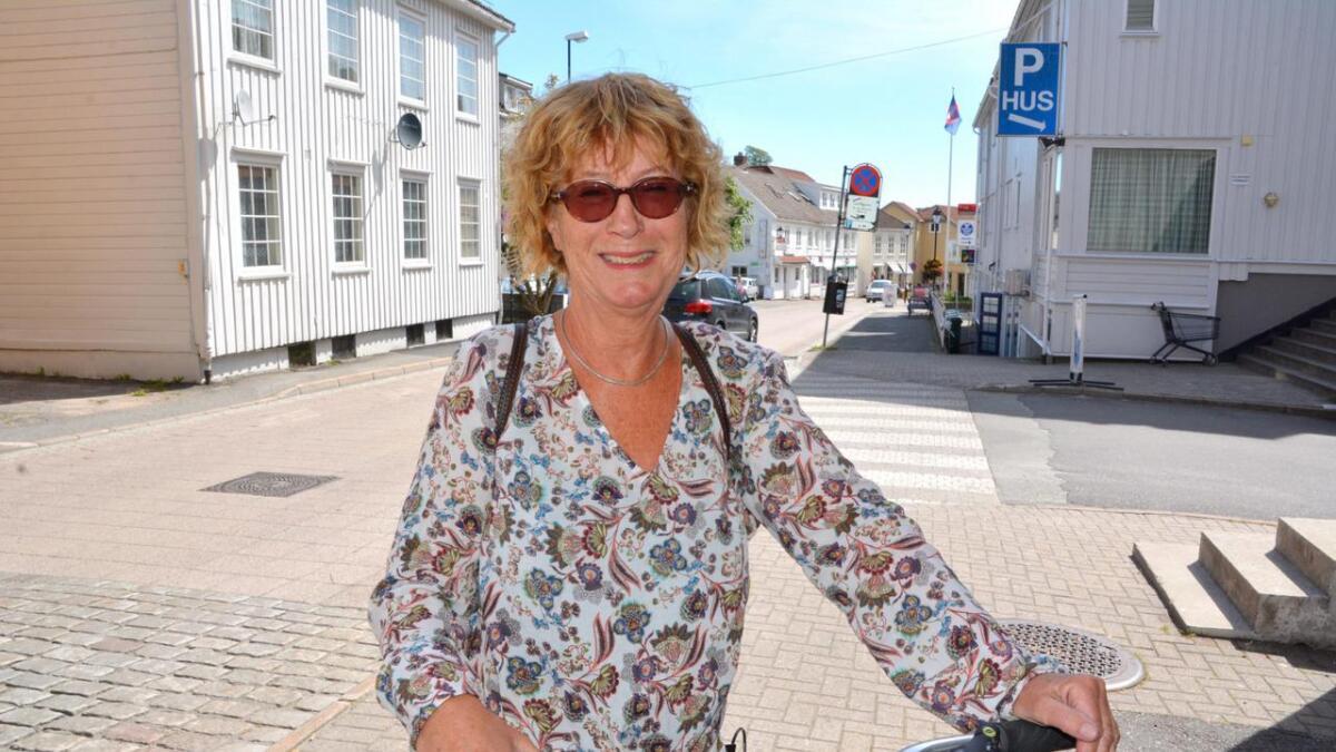 Anne Gurine Hegnar mener det kan bli et eldorado med friluftsområde, folkebad og grøntanlegg på Gundersholmen. Arkiv
